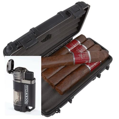 CAO Flathead 5-Cigar Humidor Combo