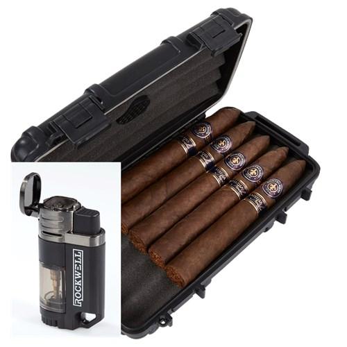 Montecristo Media Noche 5-Cigar Humidor Combo
