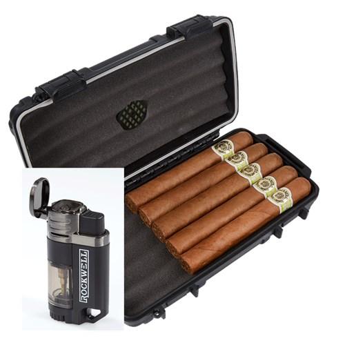 Macanudo Café 5-Cigar Humidor Combo