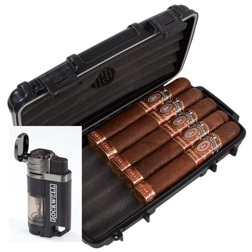 Alec Bradley Tempus Nicaragua 5-Cigar Humidor Combo