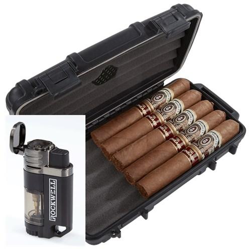 Alec Bradley Lineage 5-Cigar Humidor Combo