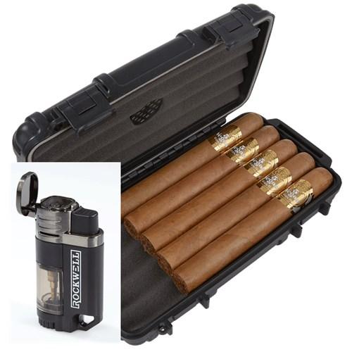 5 Vegas Gold 5-Cigar Humidor Combo