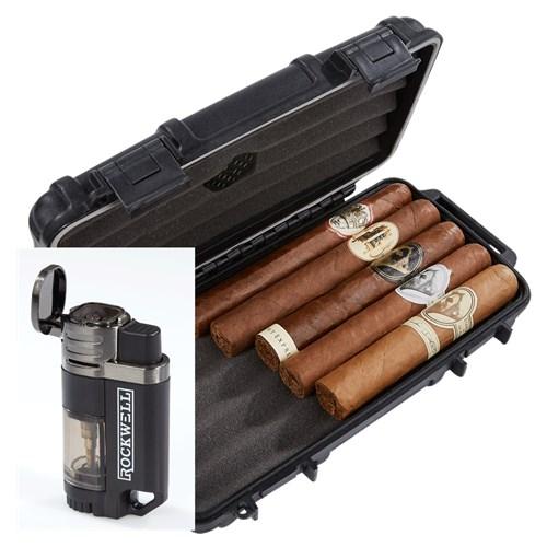 Caldwell 5-Cigar Sampler Humidor Combo
