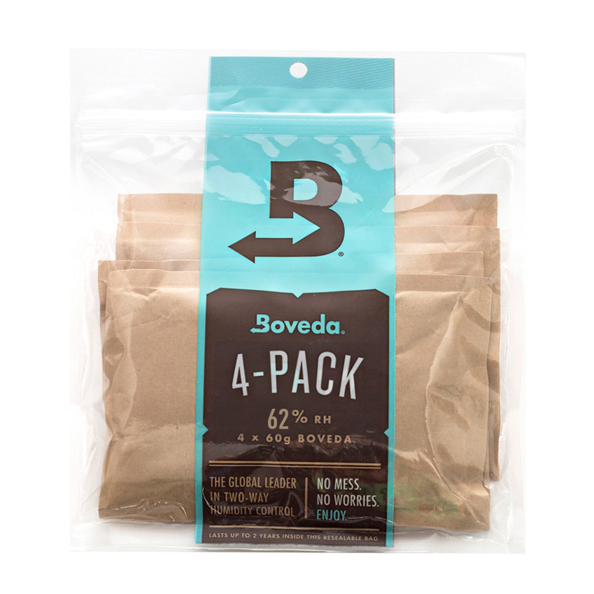 Boveda 60-Gram Humidification Packets - 62% Pack of 4
